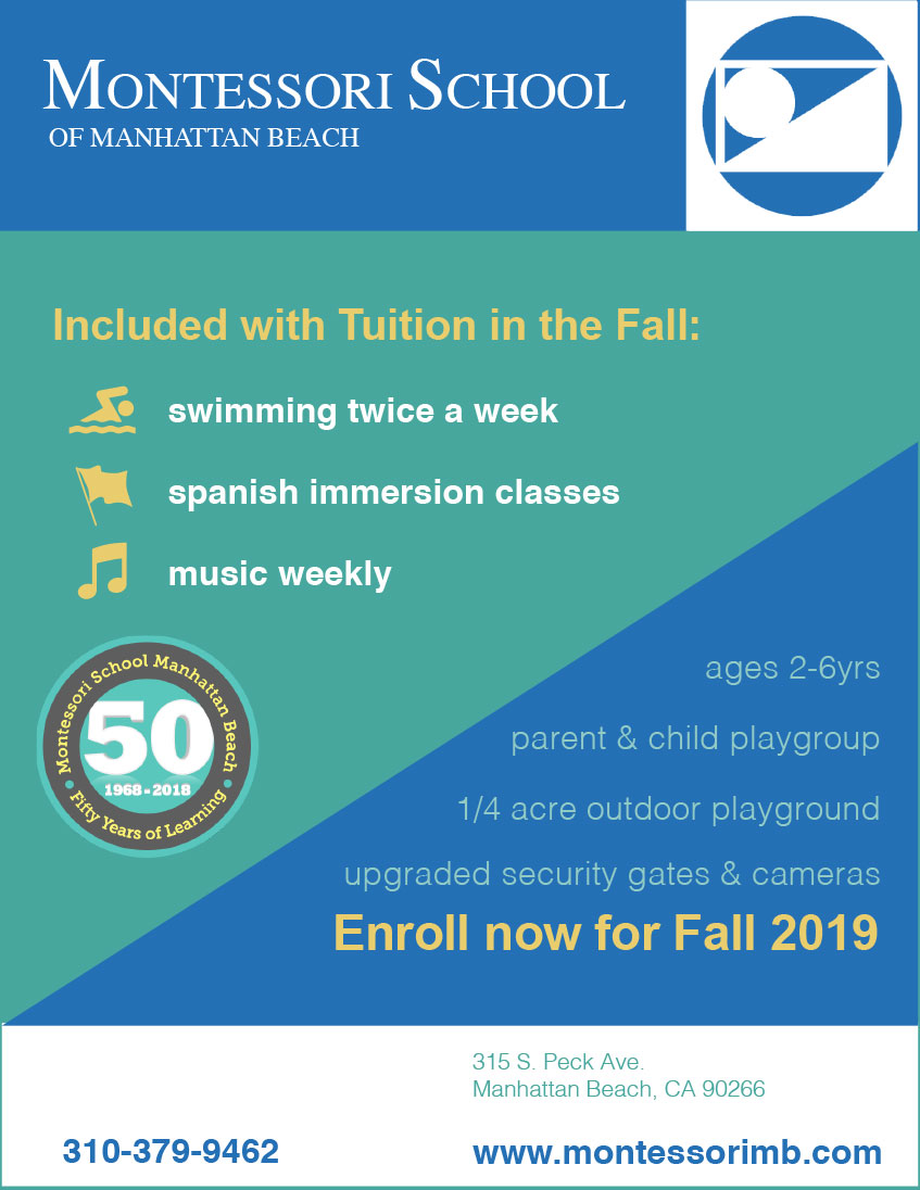 Montessori School of Manhattan Beach Announces a New Program for Fall 2019 Enrollment